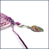 leaf stitch marker with crochet
