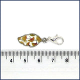leaf stitch marker with ruler