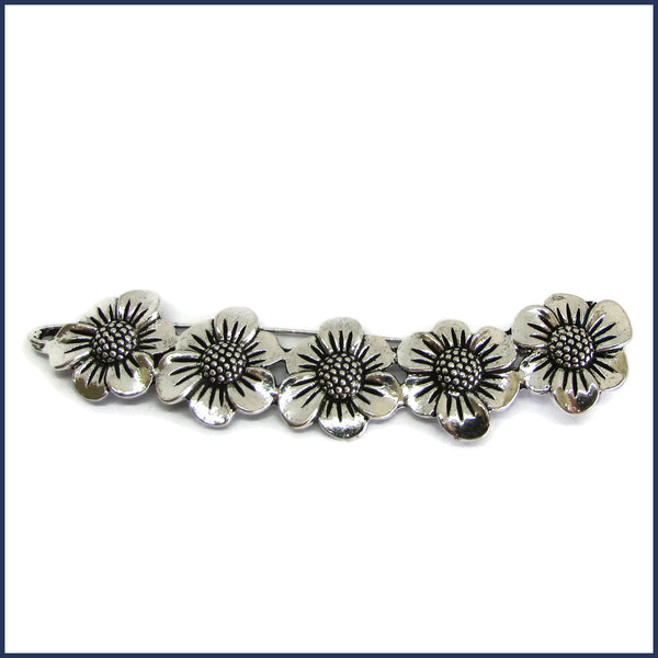 silver daisy chain shawl pin