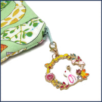 bunny stitch marker with project bag