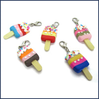 five ice lolly clip-on stitch markers