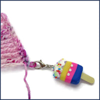 ice lolly clip-on stitch marker with crochet