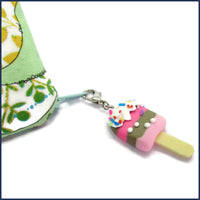 ice lolly clip-on stitch marker with project bag