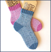 Helter Skelter Sock Knitting Pattern
