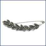 silver leaf and berries shawl pin