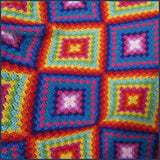 Mexican-inspired crochet blanket