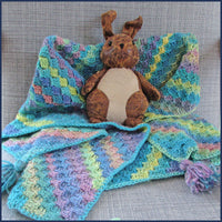 Ocean Rainbow Crochet Baby Blanket Kit