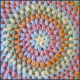 puff stitch crochet cushion cover close up