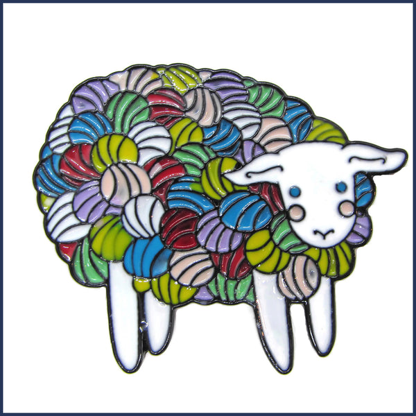 Rainbow Sheep Pin Badge