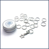 Silver Ring Stitch Markers
