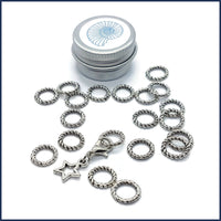 Silver Twist Ring Markers