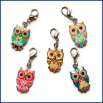 Wise Owl Stitch Marker Set