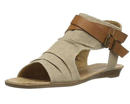 Maybest Womens Sandals Flat Ankle Buckle Gladiator Thong Flip Flop Casual Summer Shoes C Khaki 8 B (M) US - Ebb & Flow Enterprises