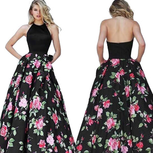 Sexy Women Floral Printed Long Dress Sleeveless Party Evening Beach Maxi Dress - Ebb & Flow Enterprises