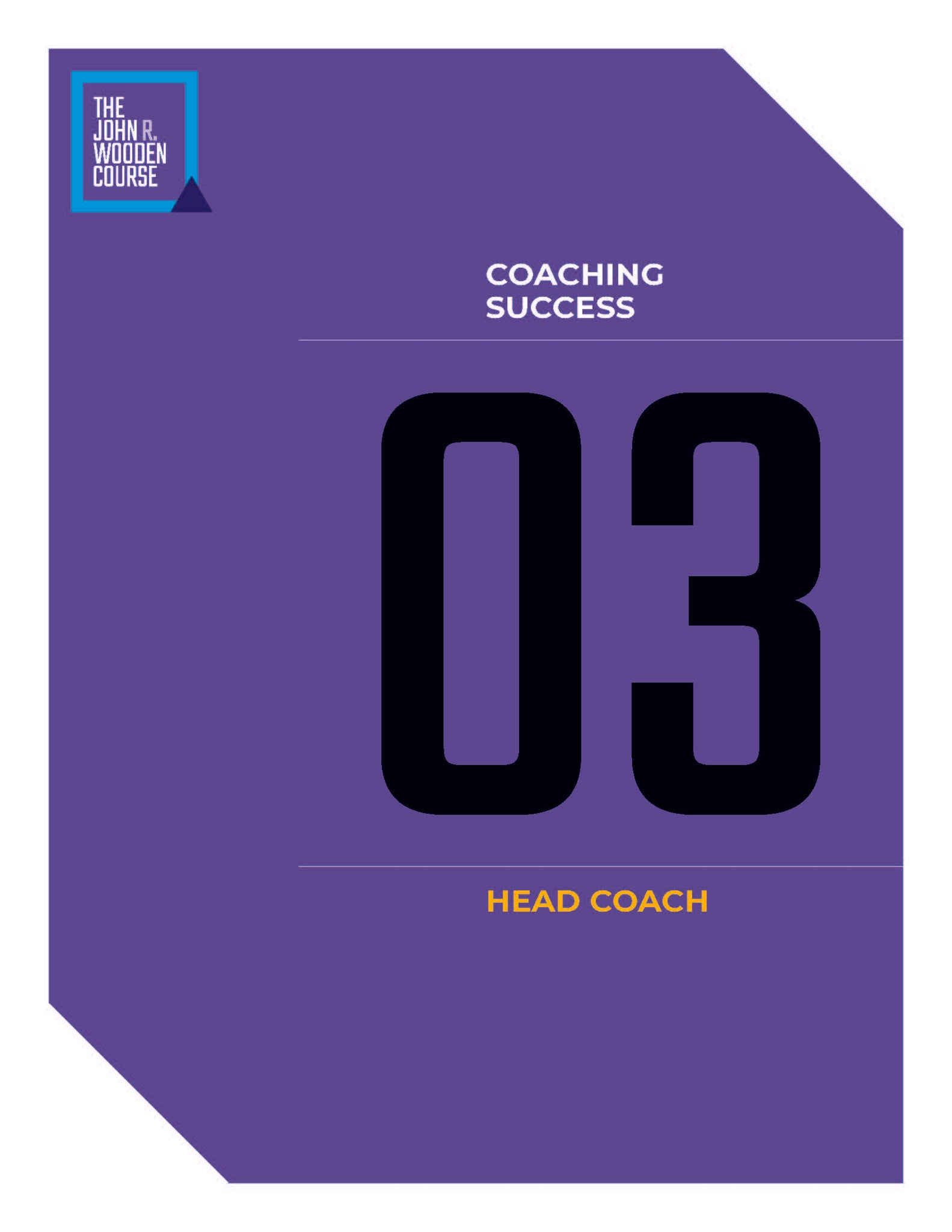 John Wooden's Coaching Course - Head Coach
