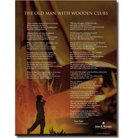 The Old Man with Wooden Clubs Poster