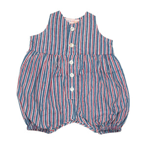 Romper - Blue Stripe
