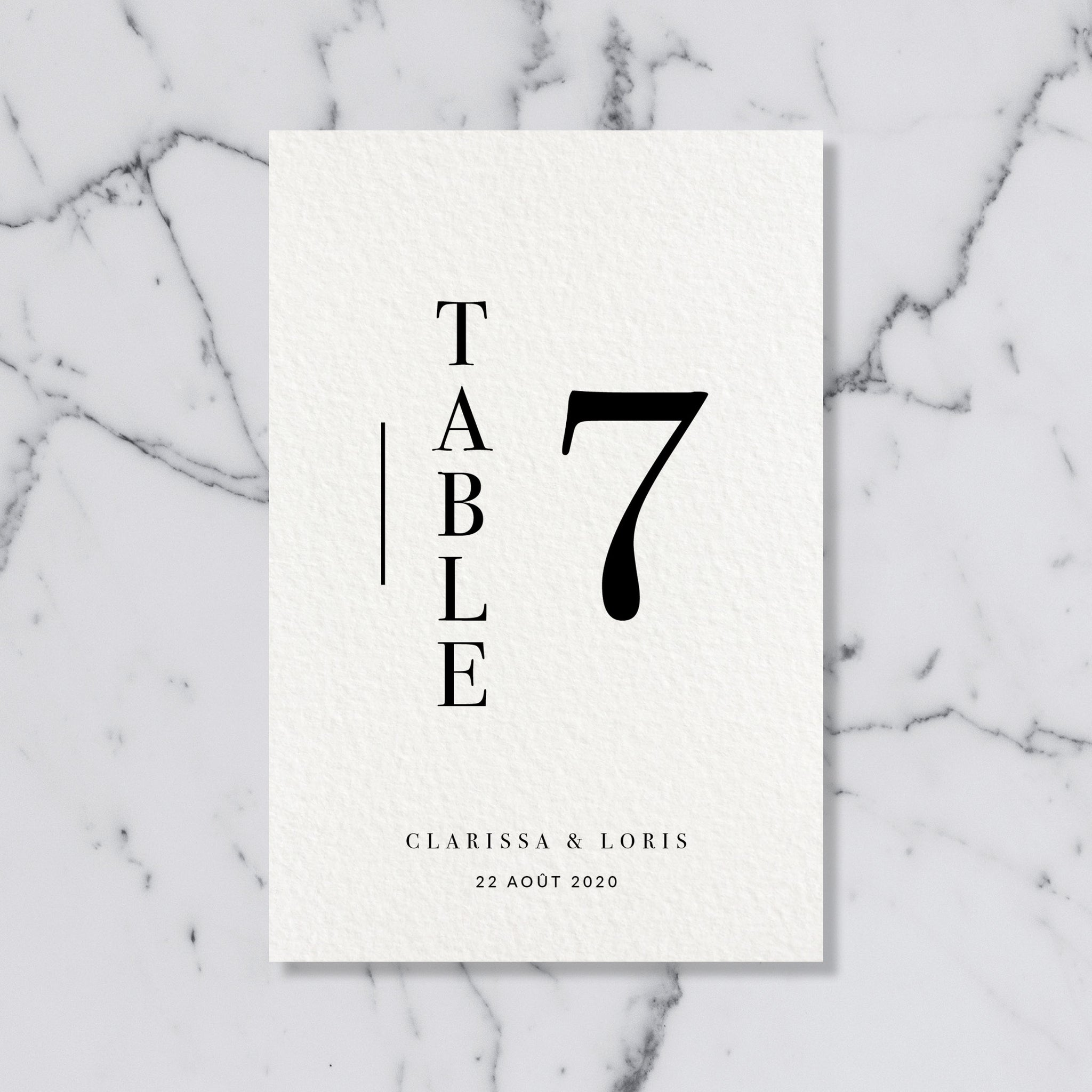 Nom de table - Modern Love - SEVEN PAPER