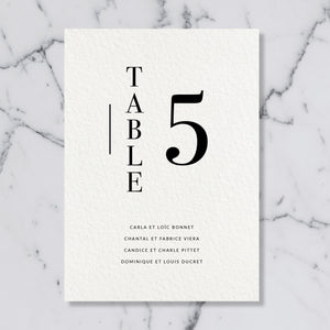 Plan de table - Modern Love - SEVEN PAPER