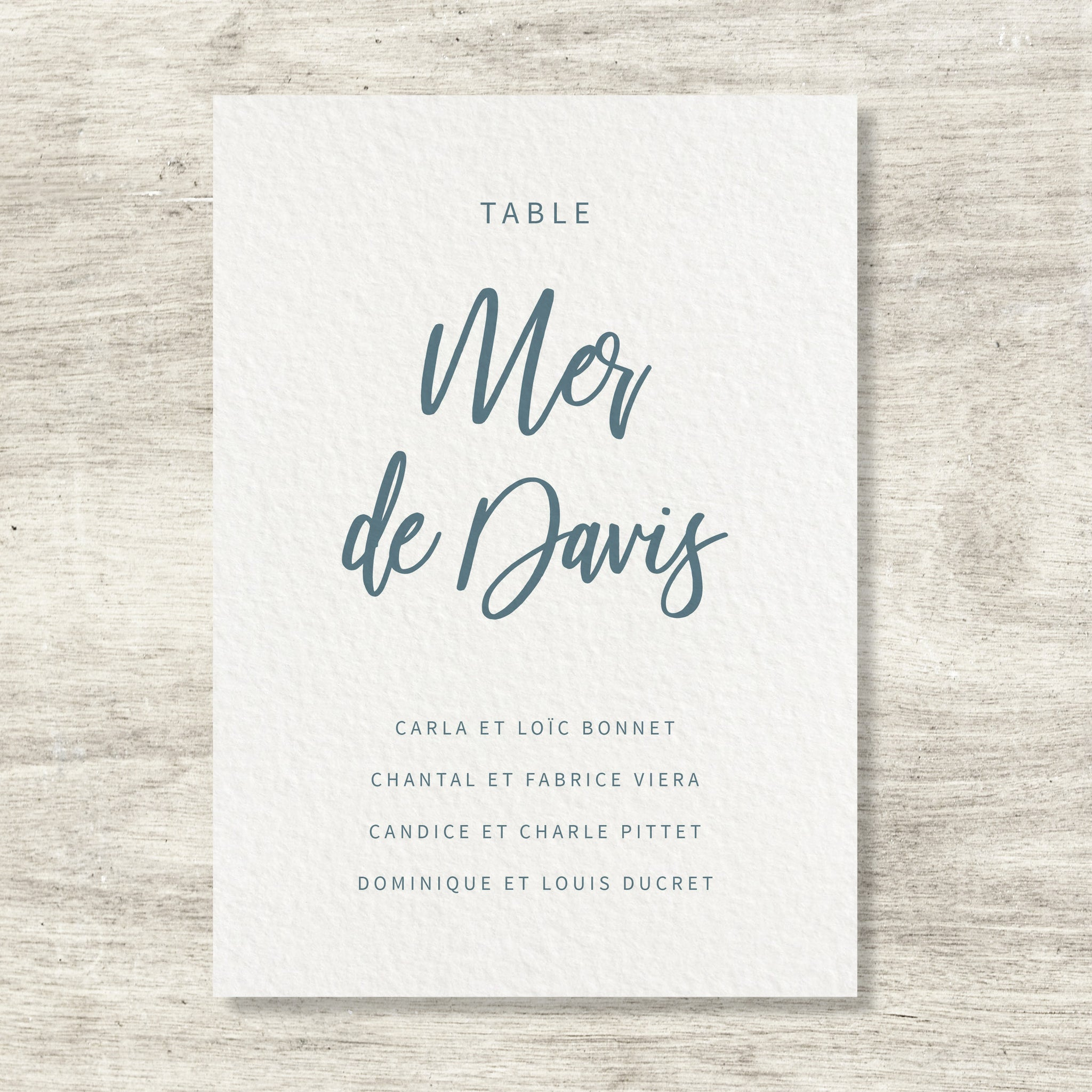 Plan de table - Blue Minerals - SEVEN PAPER
