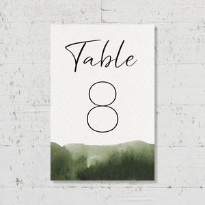 Nom de table - Olive Green - SEVEN PAPER