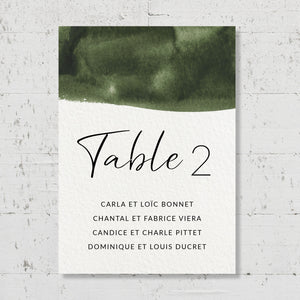 Plan de table - Olive Green - SEVEN PAPER