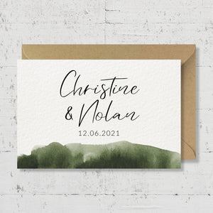 Save the date - Olive Green - SEVEN PAPER