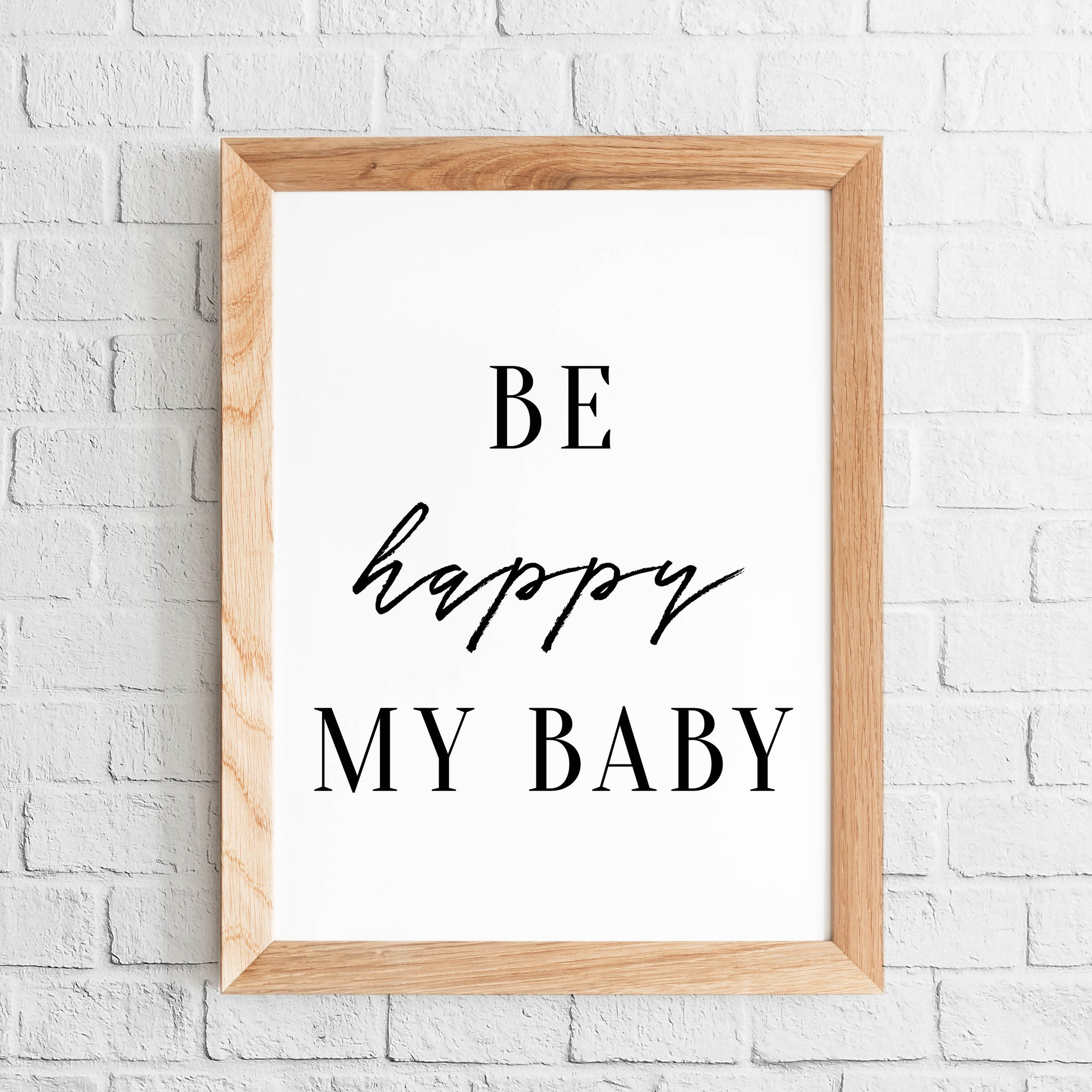 POSTER CHAMBRE BÉBÉ 'BE HAPPY MY BABY' - SEVEN PAPER