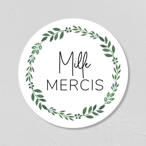 "STICKERS ""MILLE MERCIS"" 5CM - SEVEN PAPER"