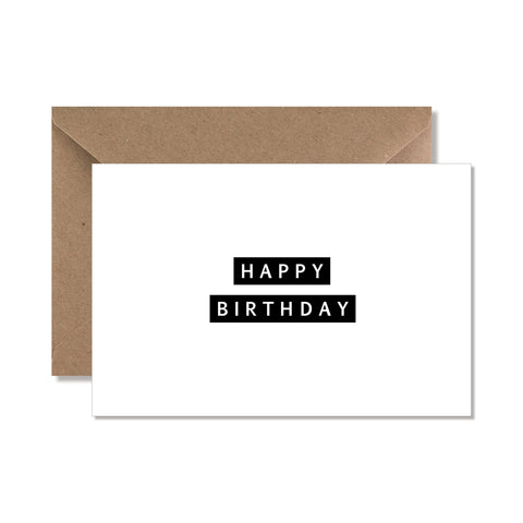 "CARTE DE VOEUX ""HAPPY BIRTHDAY"" - SEVEN PAPER"