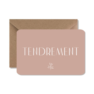 "CARTE DE VOEUX ""TENDREMENT"" - SEVEN PAPER"