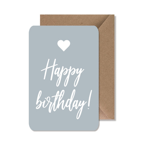 "CARTE DE VOEUX ""HAPPY BIRTHDAY"" BLEU - SEVEN PAPER"