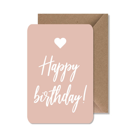 "CARTE DE VOEUX ""HAPPY BIRTHDAY"" ROSE - SEVEN PAPER"