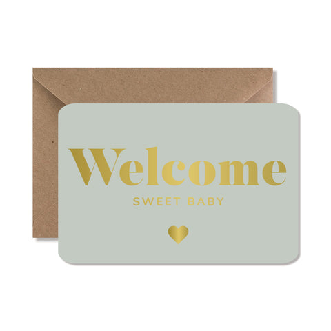 "CARTE DE VOEUX ""WELCOME SWEET BABY"" GOLD - SEVEN PAPER"