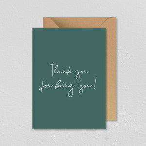 "CARTE DE VŒUX ""THANK YOU FOR BEING YOU"" - SEVEN PAPER"