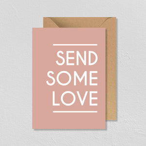 "CARTE DE VŒUX ""SEND SOME LOVE"" - SEVEN PAPER"