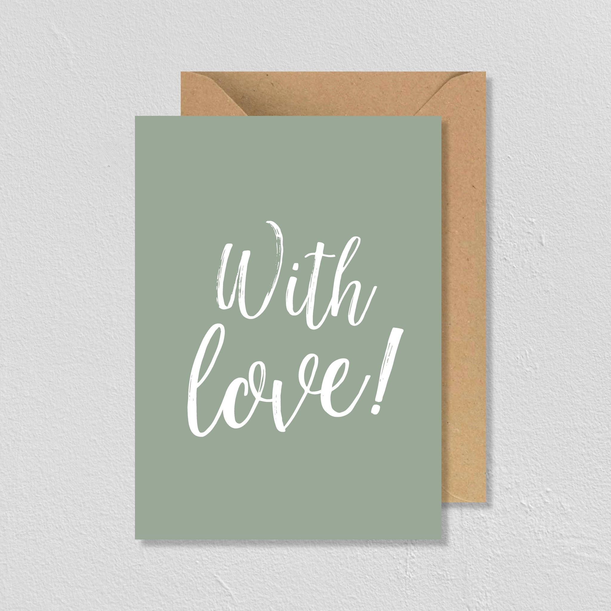 "CARTE DE VŒUX ""WITH LOVE"" - SEVEN PAPER"
