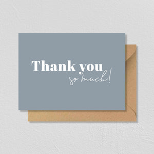 "CARTE DE VŒUX ""THANK YOU SO MUCH"" - SEVEN PAPER"
