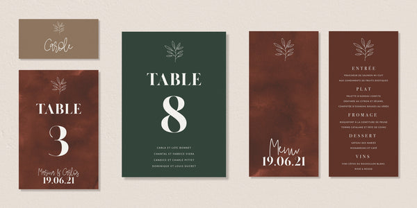 Plan de table - Modern Bohemian - SEVEN PAPER