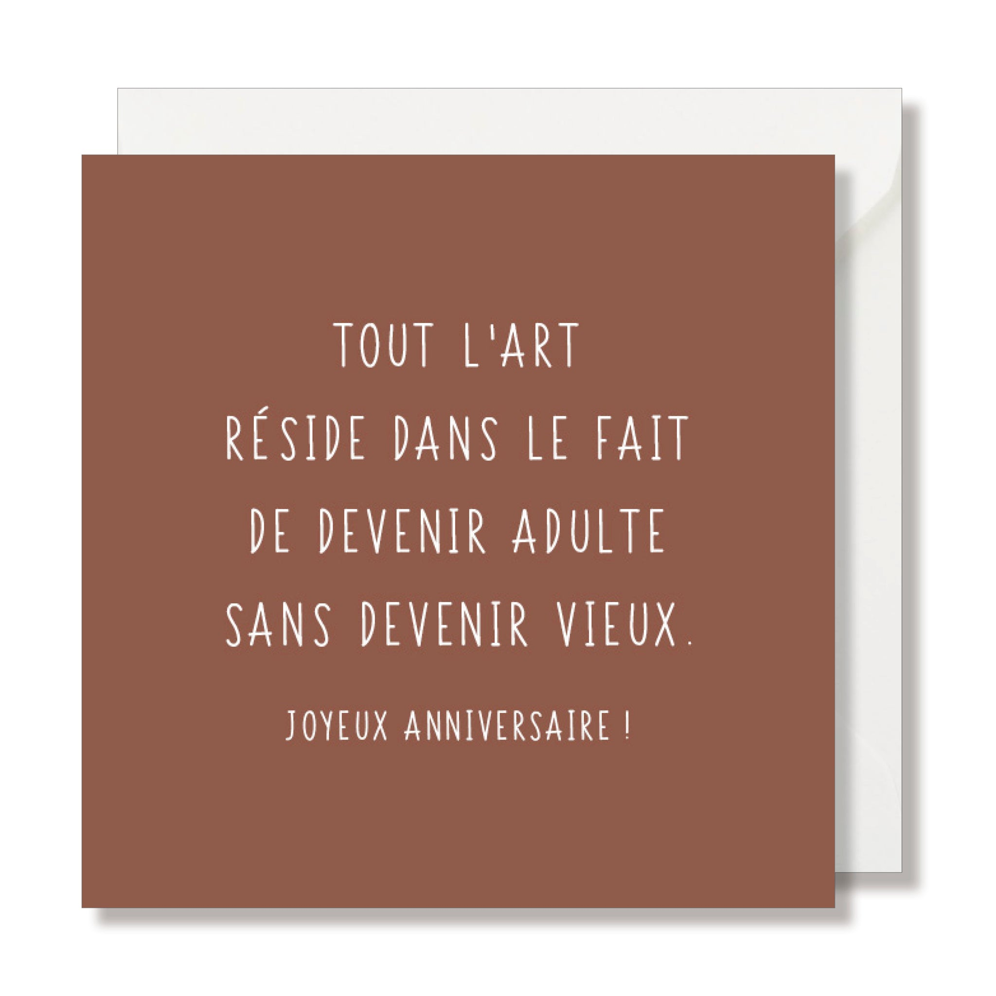 "CARTE DE VŒUX ""HAPPY BIRTHDAY TO YOU"" ROSE - SEVEN PAPER"