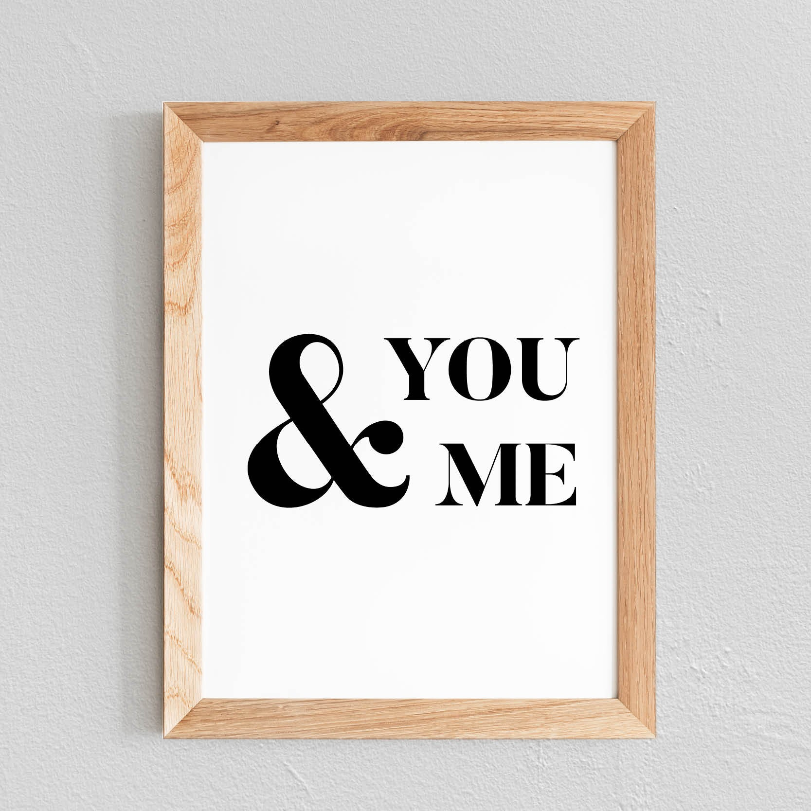 POSTER 'YOU & ME' - SEVEN PAPER