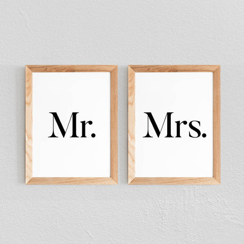 2 POSTERS 'MR & MRS' - SEVEN PAPER