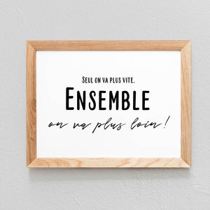 POSTER 'ENSEMBLE ON VA PLUS LOIN' - SEVEN PAPER