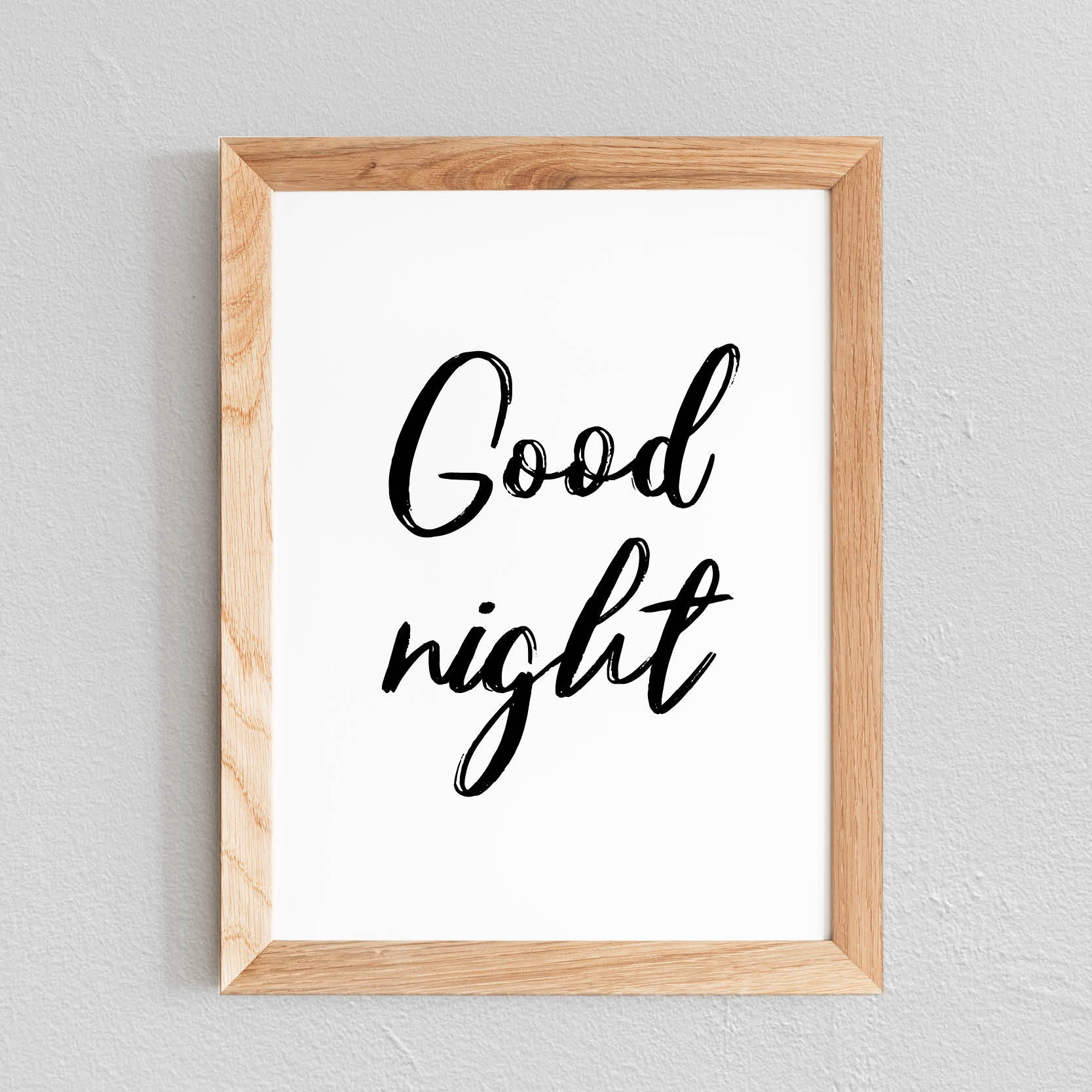 POSTER 'GOOD NIGHT' - SEVEN PAPER