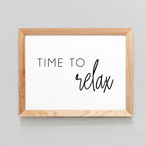POSTER 'TIME TO RELAX' - SEVEN PAPER