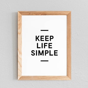 POSTER 'KEEP LIFE SIMPLE' - SEVEN PAPER
