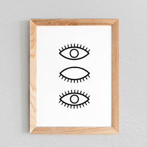 POSTER 'YEUX' - SEVEN PAPER