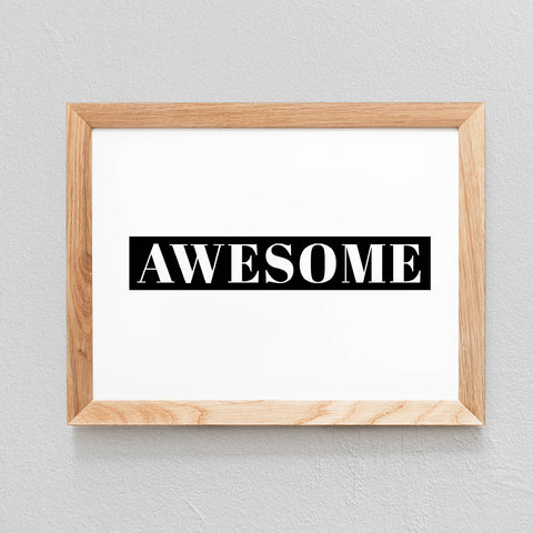 POSTER 'AWESOME' - SEVEN PAPER