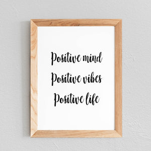POSTER 'POSITIVE MIND, POSITIVE VIBES, POSITIVE LIFE' - SEVEN PAPER