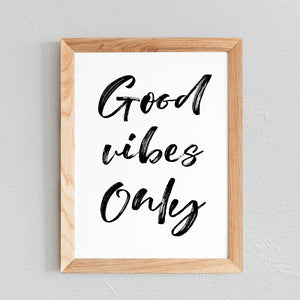POSTER 'GOOD VIBES ONLY' - SEVEN PAPER